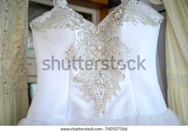Top Wedding Dresses Jewelry Crystal Rhinestone Royalty Free