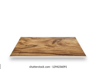 Top Wood Perspective. Isolated On White For Product Display