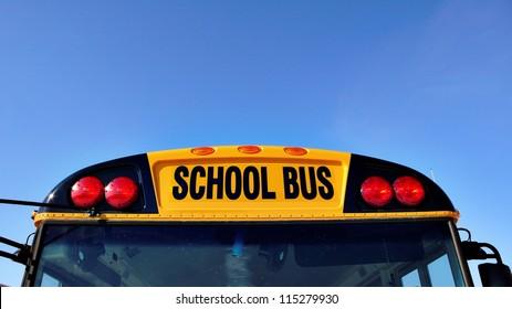 Top of the yellow school bus
