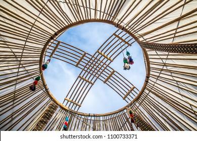Top yurts shanyrak