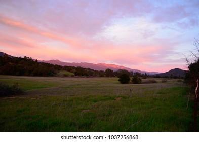Topa Topa Mountains, Ojai, CA 2017. Photo Taken on the Ojai Bike Trail along Ojai Ave,  in Mira Monte