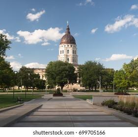 Topeka Kansas Capital Capitol Building Downtown City Skyline