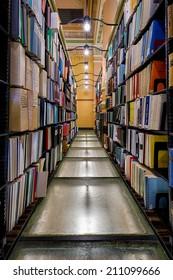 TOPEKA, KANSAS - JULY 23: Kansas State Library in the Kansas State Capitol building on July 23, 2014 in Topeka, Kansas