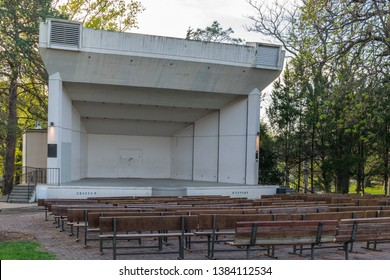 Topeka, Kansas / United States of America - April 28th 2019 : Gage Park Amphitheater