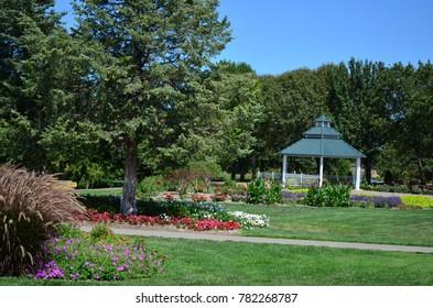Topeka, KS / USA - August 17 2012: Gazebo in the Summer