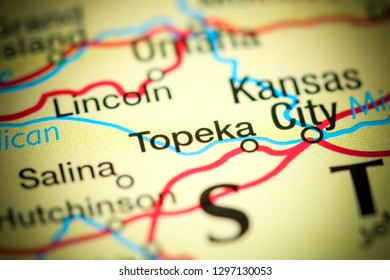 Topeka. USA on a map