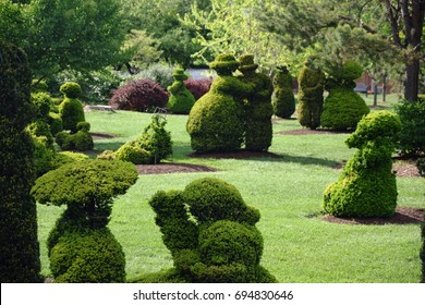 Topiary Park, in Columbus, Ohio, USA