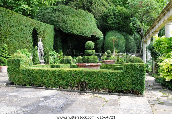 Topiary Peaceful Landscape Garden Stock Photo Edit Now 61564921