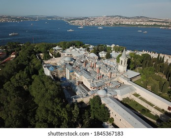 İstanbul Topkapi Palace Drone Above Aerial  - Shutterstock ID 1845367183
