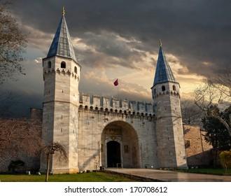 Topkapi Palace The gate of Topkapi Palace in Istanbul/Turkey.