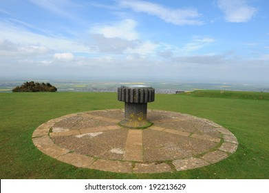 Toposcope on top of Cleeve Common on Cleeve Hill in the heart of the Cotswolds.  It is a biological and geological site of special scientific interest.