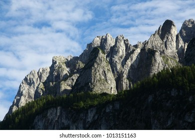 Tops of the Dachstein mountains