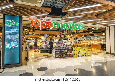 Tops Plaza Superstore Thailand new project of Central Retail Group A Supermarket or Shopping Mall for small province: 4 Aug 2018, Bangkok THAILAND.