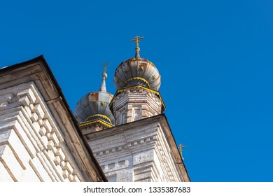 The tops of the russian church