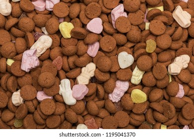 Topview of Dutch candy and Pepernoten background image