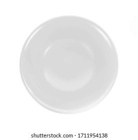 topview empty bowl on white background