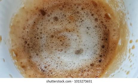 Topview of hot Cappucino Bubble