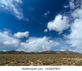 The Toquima Range seen from Monitor Valley, Nye County, Nevada, USA.