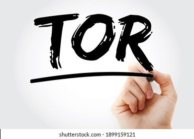 TOR - Terms of Reference acronym with marker, business concept background