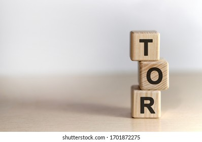 TOR Terms of Reference- text on wooden cubes, on white background