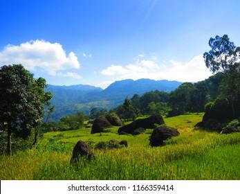 TORAJA MOUNTAIN/SULAWESI/INDONESIA-JULY 2012: Toraja landscape is a natural beauty
