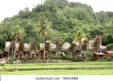 Toraja traditional houses in Kete Kesu, North Toraja, Indonesia.
