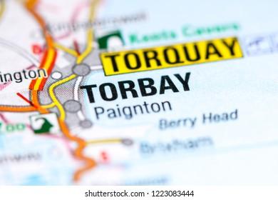 Torbay. United Kingdom on a map