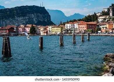 Torbole is a popular holiday resort on Lake Garda in Italy.