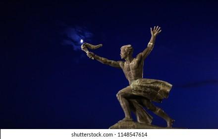 Torch bearer statue, Budapest