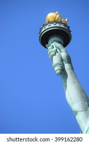 The torch of the Statue of Liberty