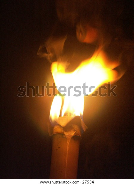 The torchlight from traditional torch.