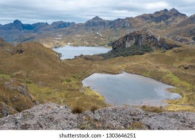 Toreadora and Chica Toreadora lake in Cajas National Park, Ecuador