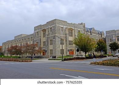 Torgersen Hall at Virginia Tech Tier I university in Blacksburg, Virginia, USA