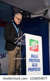 Torino, Italia - 17th November 2018 - Politician's speech, Manifestazione Forza Italia Sì TAV
