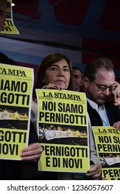Torino, Italia - 17th November 2018 - Renata Polverini, Manifestazione Forza Italia Sì TAV