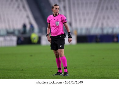 Torino, Italy. 02nd December 2020 . Stephanie Frappart, referee,   during the UEFA Champions League Group G  match between Juventus FC and Dinamo Kyiv.