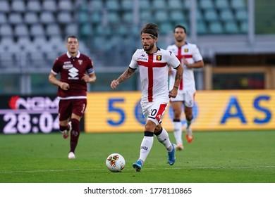 Torino, (ITALY). 16th July 2020. Italian Football Serie A. Torino Fc vs Genoa Cfc. Lasse Schone of Genoa Cfc  .