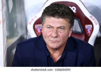 Torino, Italy - 16th September, 2019.  Italian Serie A. Torino Fc vs Us Lecce . Walter Mazzarri, head coach of Torino FC.