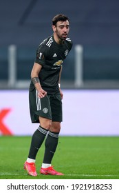 Torino, Italy. 18th February 2021. Bruno Fernandes of Manchester United Fc  during  Uefa Europa League  match between Real Sociedad de Futbol and Manchester United Fc .
