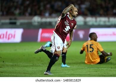 Torino, Italy. 22th August 2019.  UEFA Europa League playoff first leg . Torino Fc and Wolverhampton Wanderers Fc. Simone Zaza of Torino Fc.