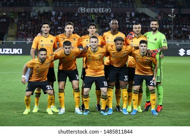 Torino - Italy. 22th August 2019. Uefa Europa League playoff first leg.  Wolverhampton Wanderers Fc Line Up.