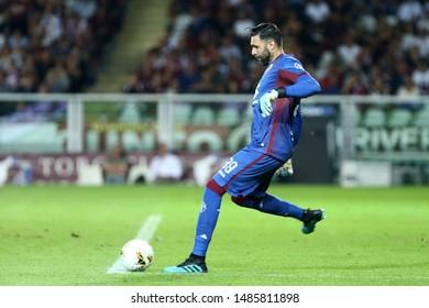 Torino, Italy. 22th August 2019.  UEFA Europa League playoff first leg . Torino Fc and Wolverhampton Wanderers Fc. Salvatore Sirigu of Torino Fc.