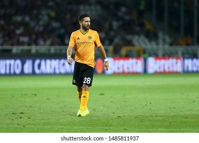 Torino - Italy. 22th August 2019. Uefa Europa League playoff first leg.   Joao Moutinho of Wolverhampton Wanderers Fc.