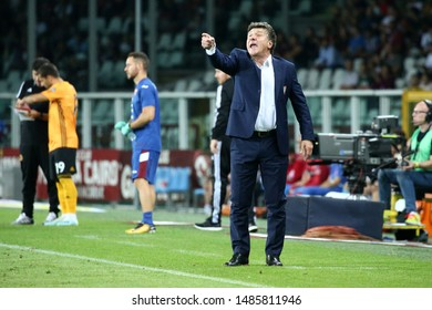 Torino, Italy. 22th August 2019.  UEFA Europa League playoff first leg . Torino Fc and Wolverhampton Wanderers Fc. Walter Mazzarri, head coach of Torino FC.