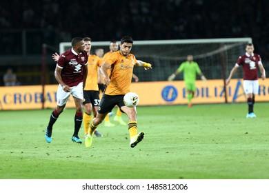 Torino - Italy. 22th August 2019. Uefa Europa League playoff first leg.  Raul Jimenez of Wolverhampton Wanderers Fc.
