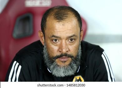 Torino - Italy. 22th August 2019. Uefa Europa League playoff first leg.   Nuno Espirito Santo, head coach of Wolverhampton Wanderers Fc.