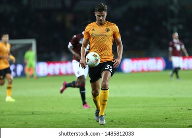 Torino - Italy. 22th August 2019. Uefa Europa League playoff first leg.  Leander Dendoncker of Wolverhampton Wanderers Fc.