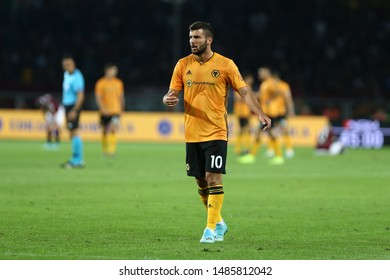 Torino - Italy. 22th August 2019. Uefa Europa League playoff first leg.  Patrick Cutrone of Wolverhampton Wanderers Fc.