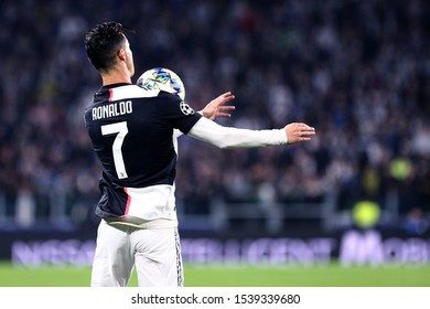 Torino, Italy. 22th October 2019 . Uefa Champions League Group D . Juventus Fc vs Fc Lokomotiv Moskva. Cristiano Ronaldo of Juventus FC.