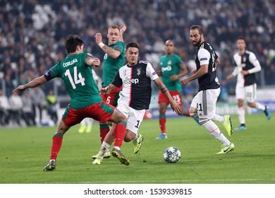 Torino, Italy. 22th October 2019 . Uefa Champions League Group D . Juventus Fc vs Fc Lokomotiv Moskva. Paulo Dybala of Juventus FC.